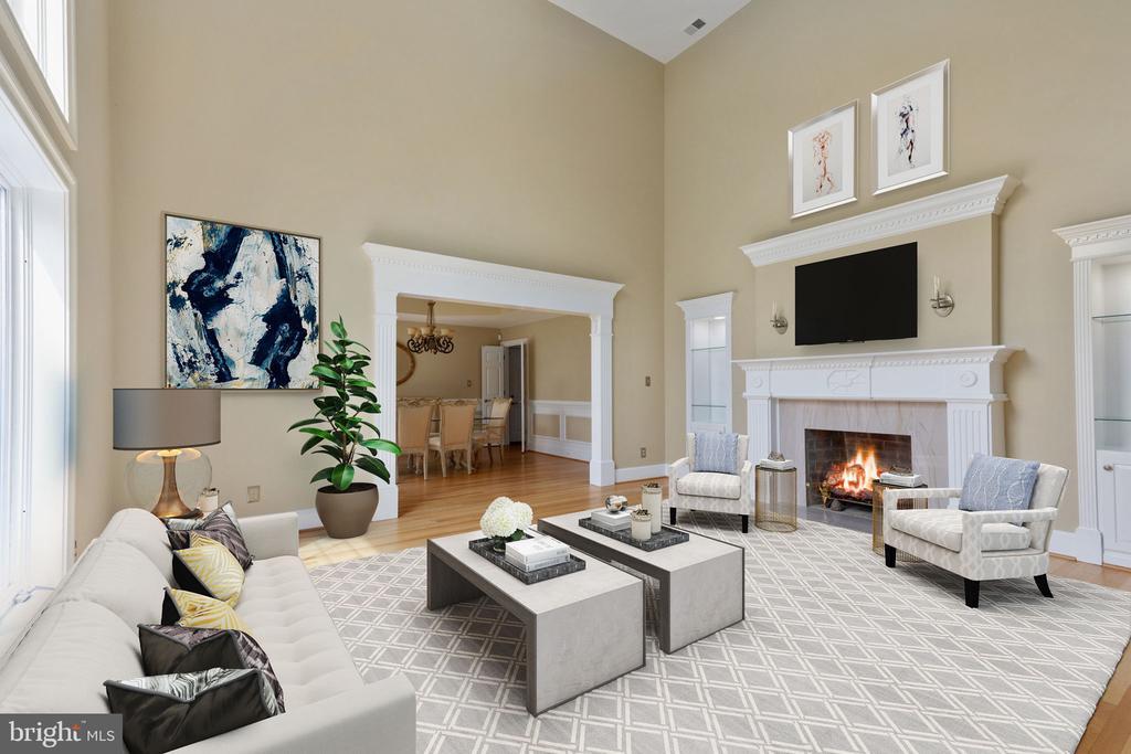 Formal Living Room w/ fireplace - 2405 OAKMONT CT, OAKTON