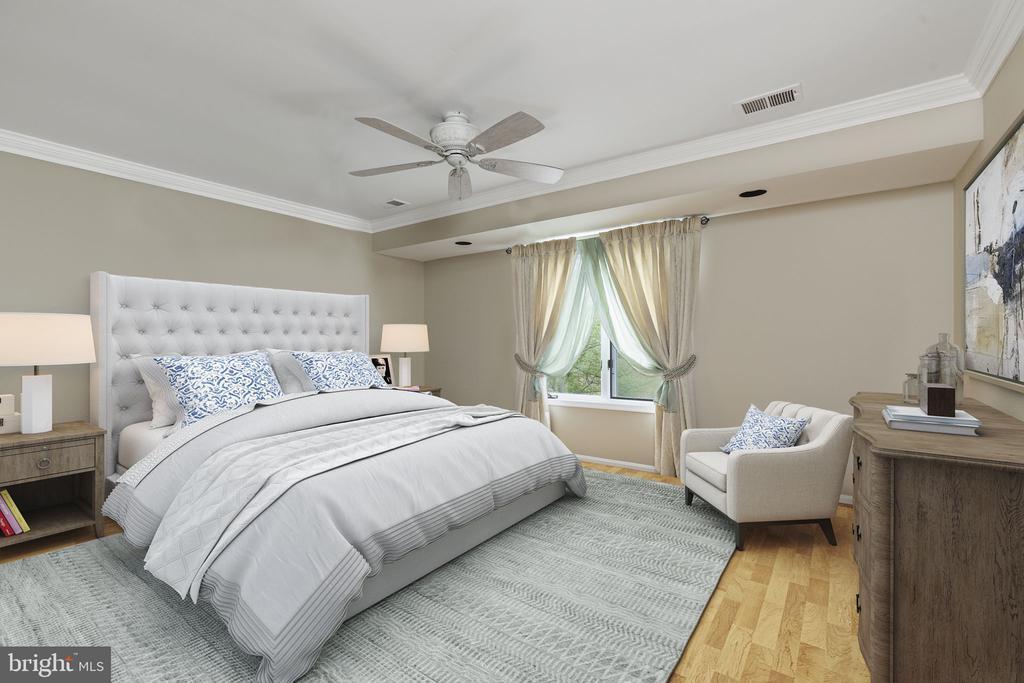 Fourth Bedroom with Ceiling Fan - 2405 OAKMONT CT, OAKTON