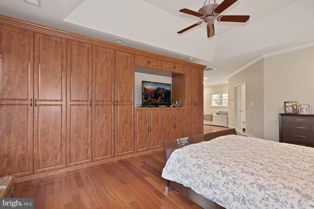 Master Bedroom with Wall of Closets - 19582 SARATOGA SPRINGS PL, ASHBURN