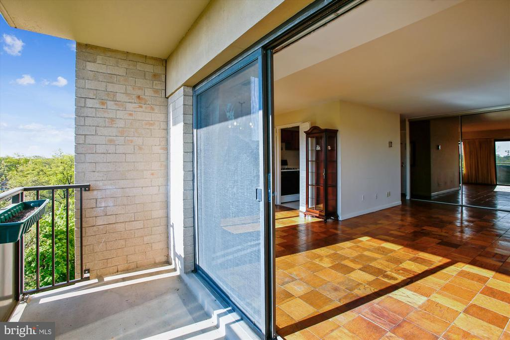 Sliding Glass Door to Large Balcony - 3100 S MANCHESTER ST #612, FALLS CHURCH