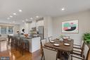 Large kitchen and dining - 11357 RIDGELINE RD, FAIRFAX