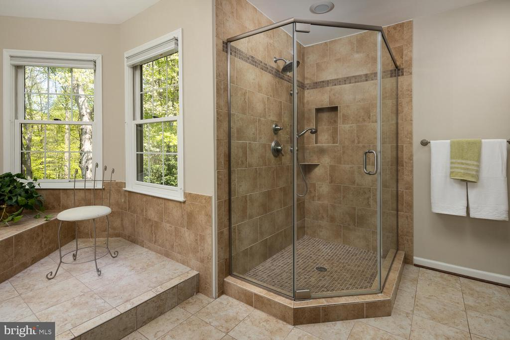 Separate Clear Glass Spa Shower - 10654 CANTERBERRY RD, FAIRFAX STATION