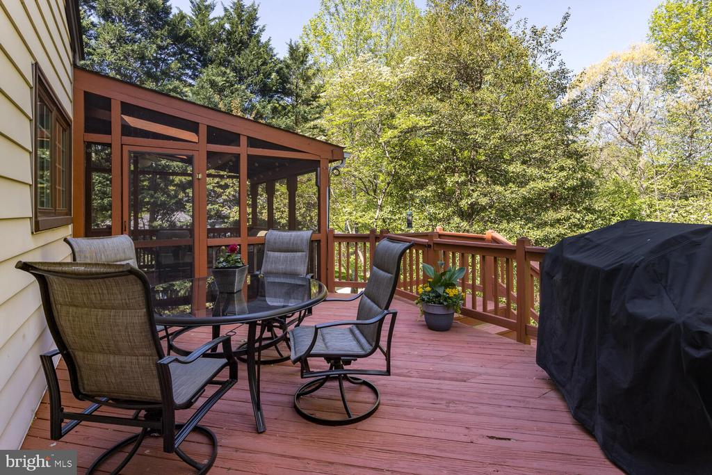 Entertainment Deck surrounded by Trees! - 10654 CANTERBERRY RD, FAIRFAX STATION