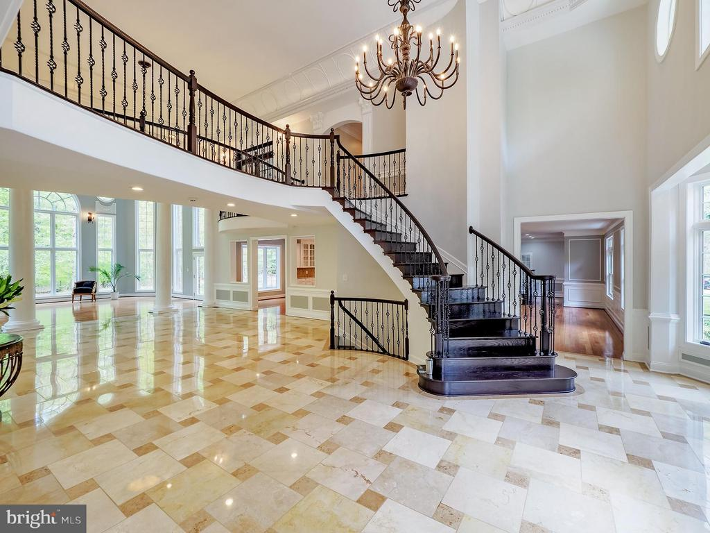 Another angle of beautiful spacious entrance - 11009 HAMPTON RD, FAIRFAX STATION