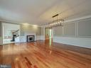 Spacious dining room with moldings and fireplace - 11009 HAMPTON RD, FAIRFAX STATION