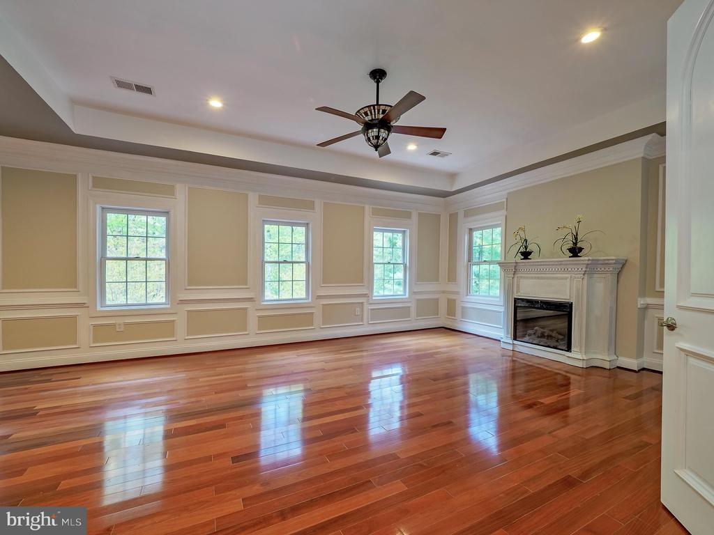Primary spacious bedroom showing detailed moldings - 11009 HAMPTON RD, FAIRFAX STATION