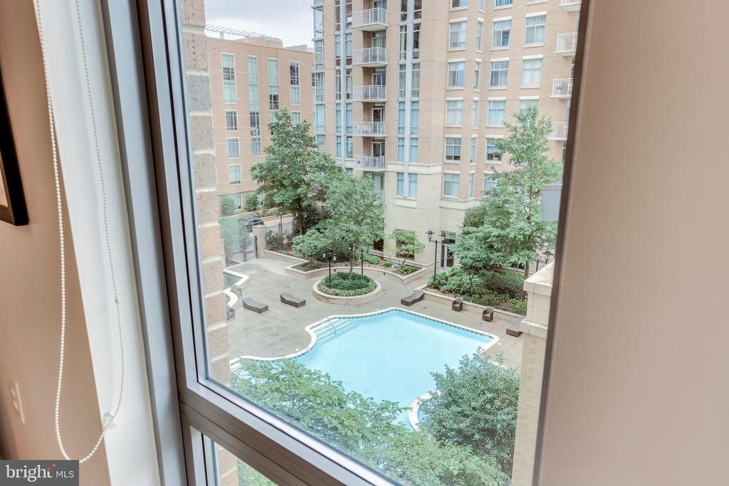 View of Pool from Kitchen - 11990 MARKET ST #411, RESTON