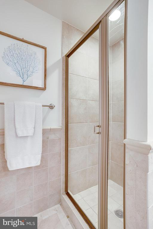 Shower in Primary Bedroom - 11990 MARKET ST #411, RESTON