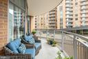 Balcony has no view of neighbors! - 11990 MARKET ST #411, RESTON