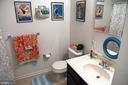 Hall bath - peek of the tub area in the mirror - 312 SYCAMORE DR, FREDERICKSBURG