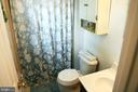 En suite bath with shower - 312 SYCAMORE DR, FREDERICKSBURG