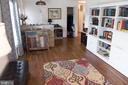 Living rm towards front door & family rm doorway - 312 SYCAMORE DR, FREDERICKSBURG