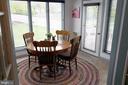 Sunroom has windows on 3 sides, door to deck - 312 SYCAMORE DR, FREDERICKSBURG