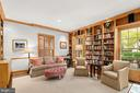 Library with built-ins - 2208 KALORAMA RD NW, WASHINGTON