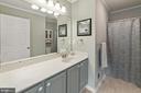 Newly renovated full bath, with tile floors - 2104 BEAR CREEK CT, FREDERICK