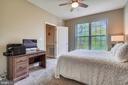 Ceiling fan in bedroom - 20933 CEDARPOST SQ #302, ASHBURN