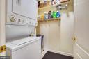 Laundry with additional storage in unit - 20933 CEDARPOST SQ #302, ASHBURN