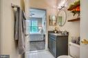 Attached updated bath with new vanity and lights - 20933 CEDARPOST SQ #302, ASHBURN