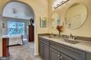 Master bath w/ dual updated vanity and lighting - 20933 CEDARPOST SQ #302, ASHBURN