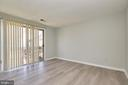 Main level bedroom/office with sliding glass door - 104-B N BEDFORD ST, ARLINGTON