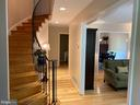 Beautiful entryway with curved staircase - 1829 WAINWRIGHT DR, RESTON