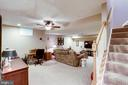 Finished lower level, great for entertaining. - 1206 WOODBROOK CT, RESTON