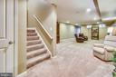 Large basement rec room area with access to yard - 23397 MORNING WALK DR, BRAMBLETON