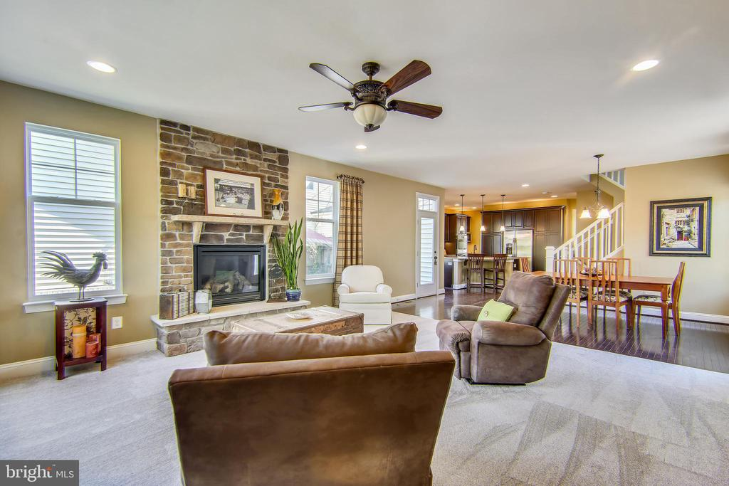Enjoy the warmth of the gas fireplace - 23397 MORNING WALK DR, BRAMBLETON