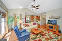 Cathedral ceilings and access to the deck - 609 STRATFORD CIR, LOCUST GROVE