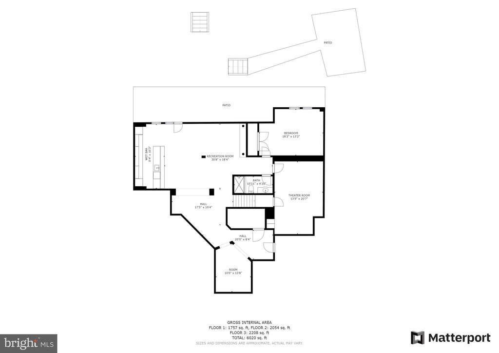 Lower Level Floor Plan - 42838 DOBSON CT, BROADLANDS
