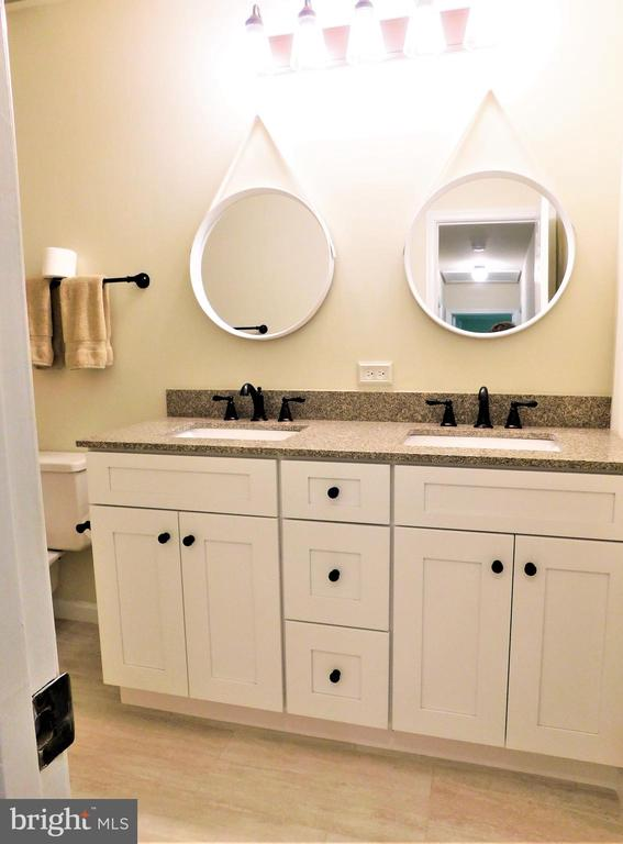 Remodeled FBA:  Granite-top dual-bowl vanity - 12520 BROWNS FERRY RD, HERNDON