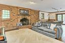 Oversized Fireplace on Lower Level - 10700 HAMPTON RD, FAIRFAX STATION