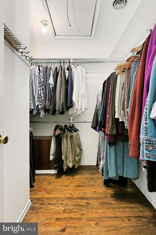 W-I Closet with pull-down Staircase to attic - 10700 HAMPTON RD, FAIRFAX STATION