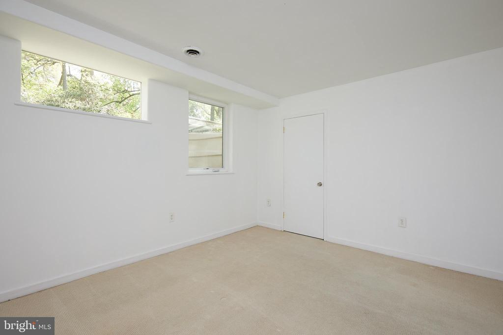 Lower levellarge bedroom with walk-in closet - 11530 HIGHVIEW AVE, SILVER SPRING