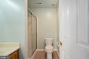 Lower level full bath w/stand up shower. - 4 CATHERINE LN, STAFFORD
