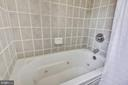 Stone-tiled tub/shower combo - 4839 27TH RD S, ARLINGTON