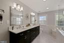 Owner's Suite Luxury Bath - 7608 MANOR HOUSE DR, FAIRFAX STATION
