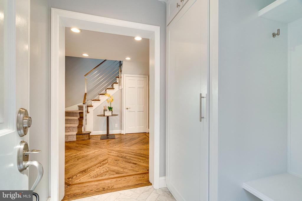 Mudroom Entrance with Heated Herringbone Tile - 132 N UNION ST, ALEXANDRIA