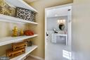 Shelves for linens and storage - 3033 KNOLL DR, FALLS CHURCH
