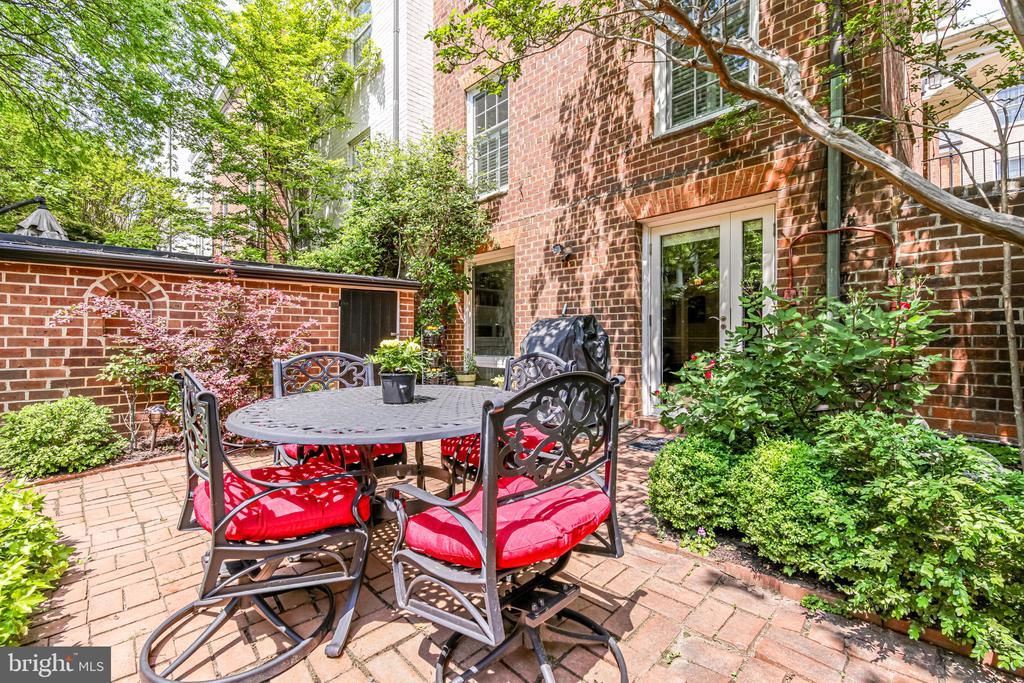 Flat patio with lush greenery - 114 CAMERON MEWS, ALEXANDRIA