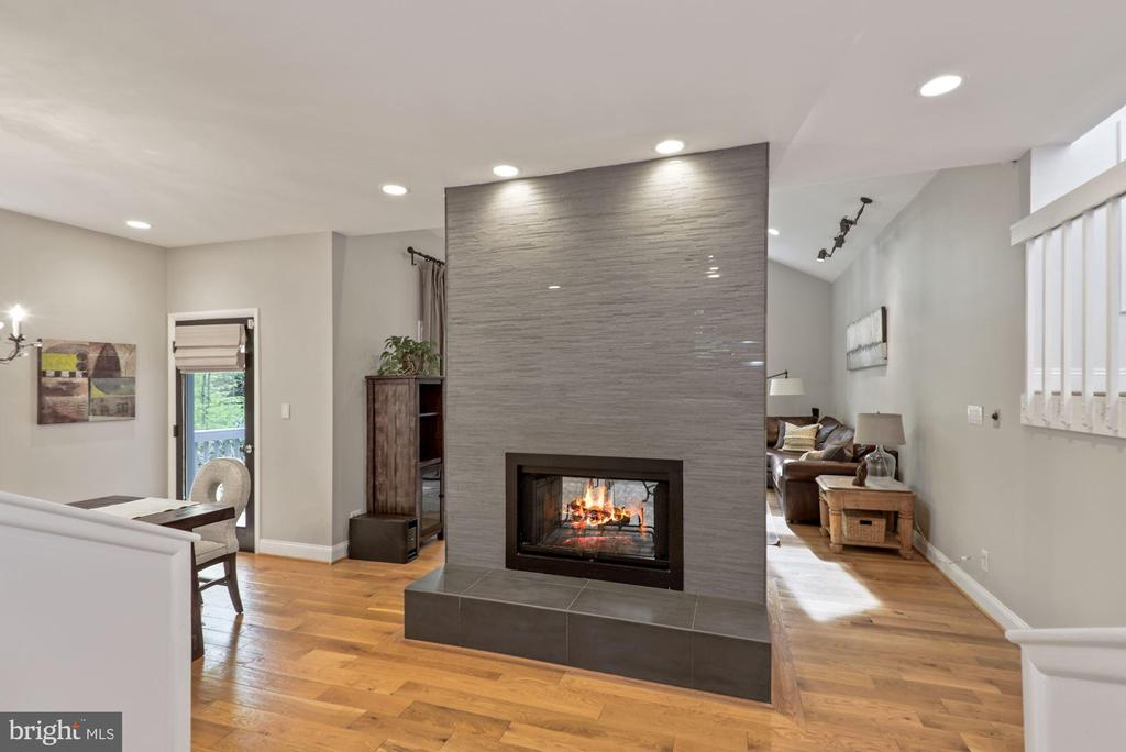 Two sided beautifully updated fireplace - 2108 OWLS COVE LN, RESTON
