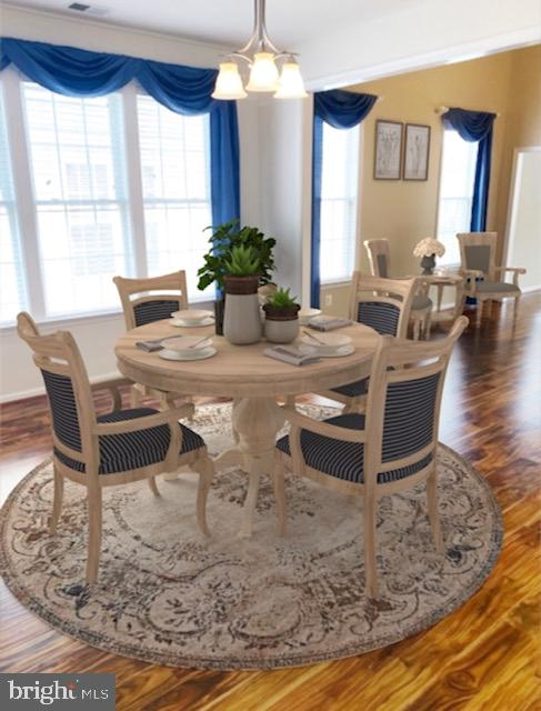 Virtually Staged Formal Dining Room - 6293 CULVERHOUSE CT, GAINESVILLE