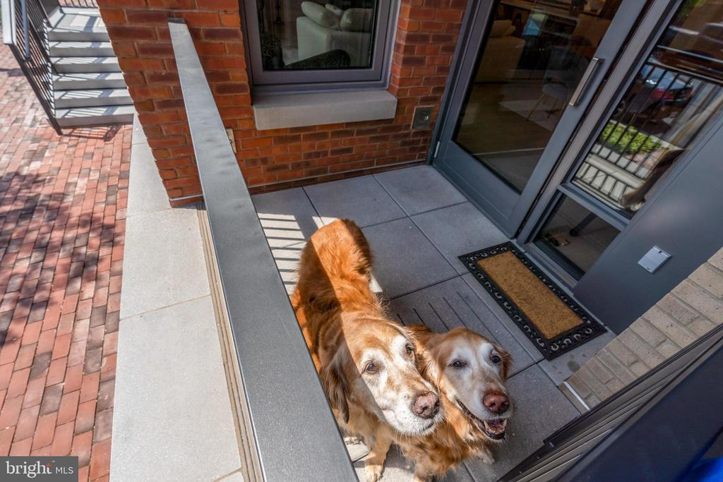 Gated front porch makes everyone happy! - 16 BAKERS WALK #104, ALEXANDRIA