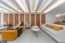 Sophisticated design in building main lobby - 16 BAKERS WALK #104, ALEXANDRIA