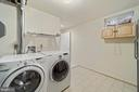 Lower level laundry - 8104 CREEKVIEW DR, SPRINGFIELD