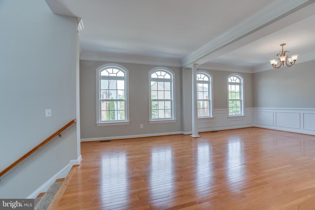 Living Room w/view to Dining  Room Custom Moldings - 13297 SCOTCH RUN CT, CENTREVILLE