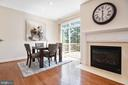 Gas Fireplace on with a click of a switch - 115 GRACIE PARK DR, HERNDON