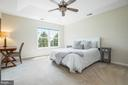 Main bedroom with Trey Celieling - 115 GRACIE PARK DR, HERNDON