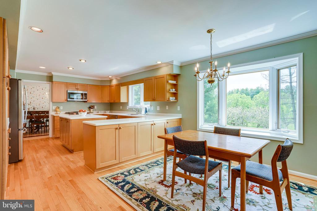 View of kitchen and breakfast area - 19 GRISWOLD CT, POTOMAC FALLS