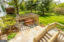 Stairs from deck to hot tub and back yard - 19 GRISWOLD CT, POTOMAC FALLS